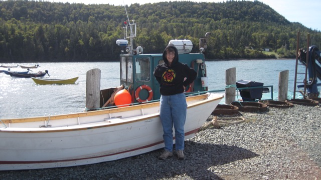 Mama Bell up in Nova Scotia getting ready to set off on the Atlantic.